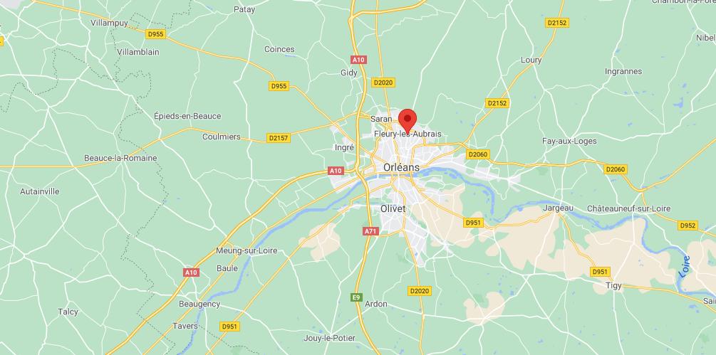 Où se situe Fleury-les-Aubrais (Code postal 45400)