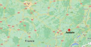 Où se situe Fontain (Code postal 25660)