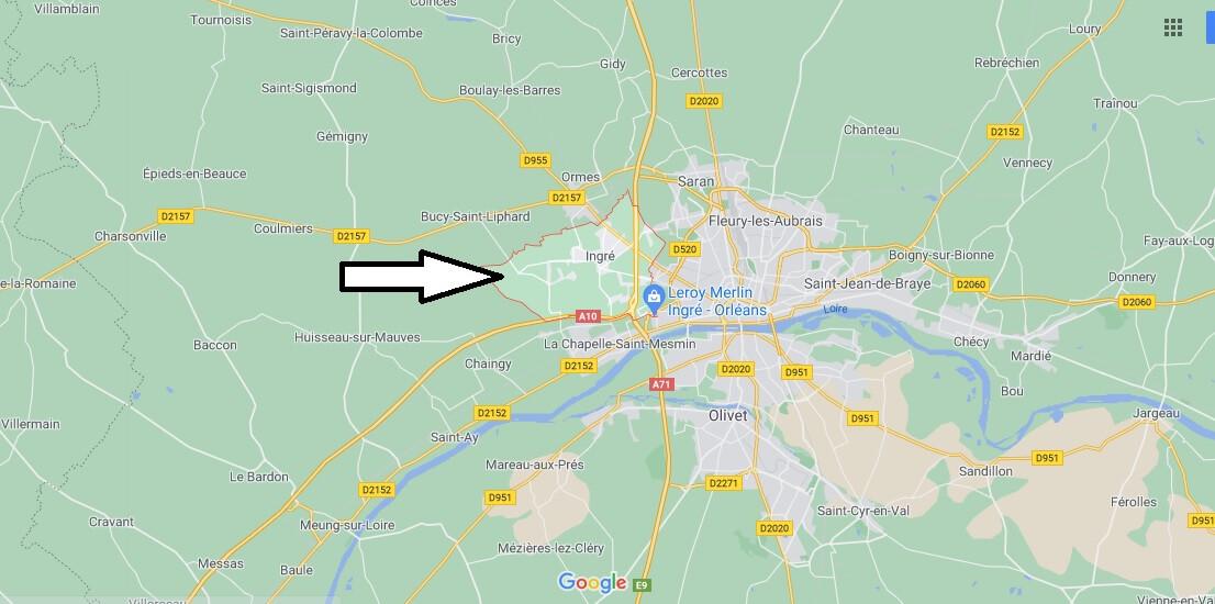 Où se situe Ingré (Code postal 45140)
