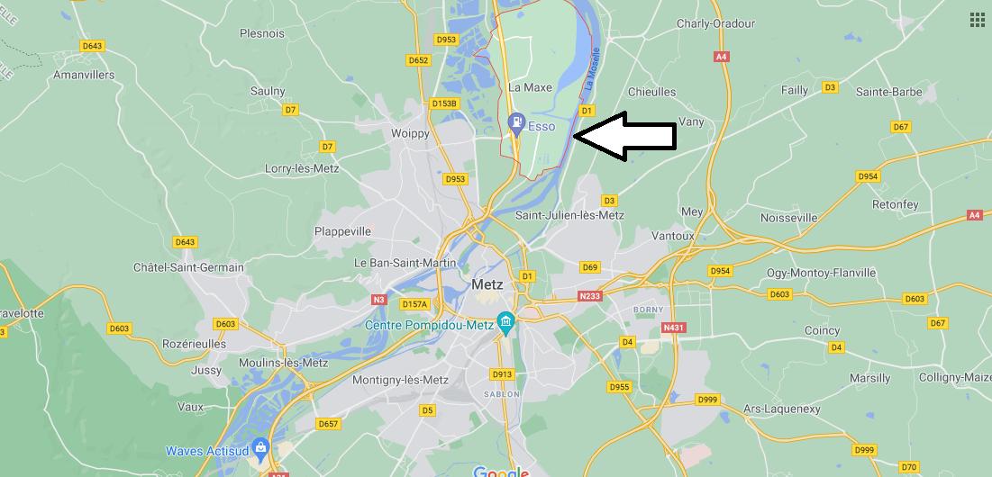 Où se situe La Maxe (Code postal 57140)