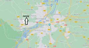 Où se situe Lessy (Code postal 57160)