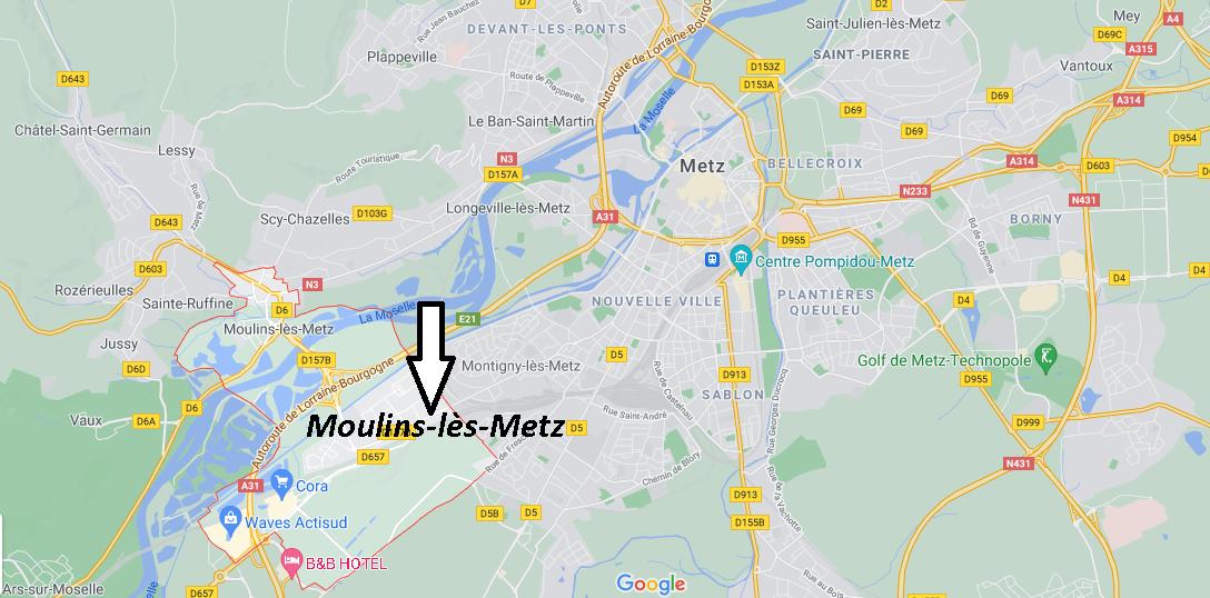 Où se situe Moulins-lès-Metz (Code postal 57160)