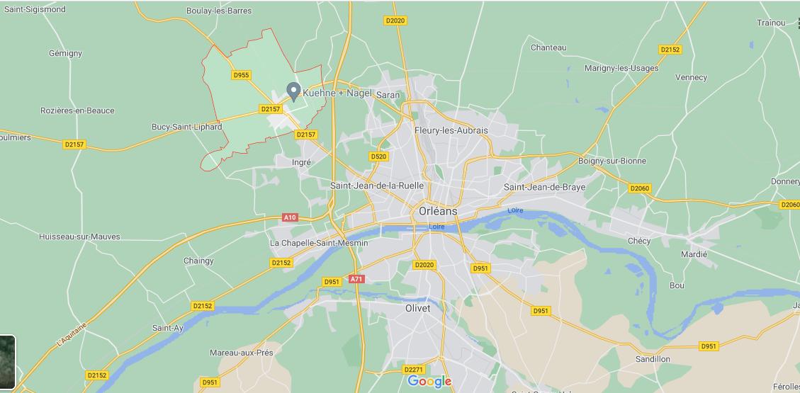 Où se situe Ormes (Code postal 45140)