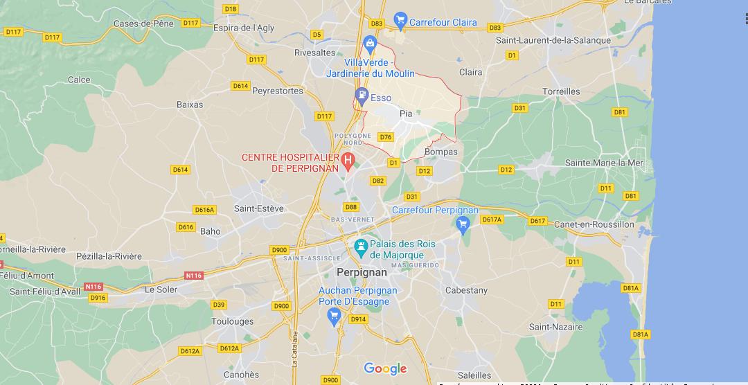 Où se situe Pia (Code postal 66380)