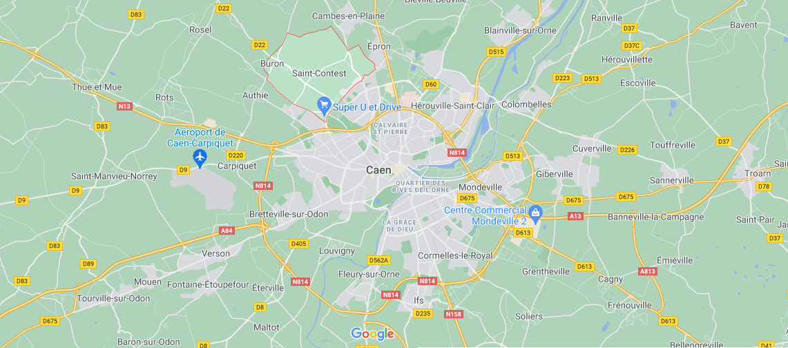 Où se situe Saint-Contest (Code postal 14280)