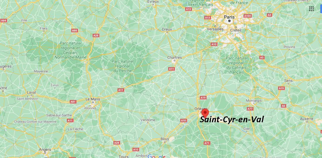 Où se situe Saint-Cyr-en-Val (Code postal 45590)