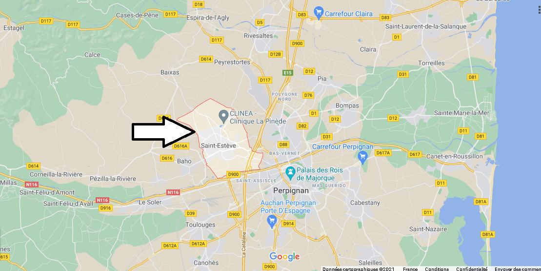Où se situe Saint-Estève (Code postal 66240)