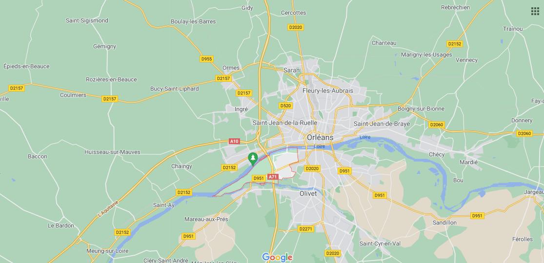 Où se situe Saint-Pryvé-Saint-Mesmin (Code postal 45750)