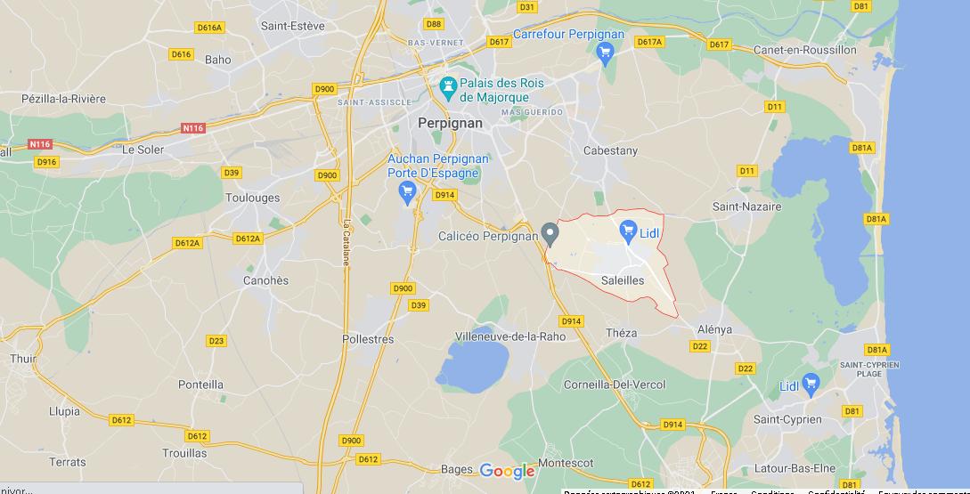 Où se situe Saleilles (Code postal 66280)
