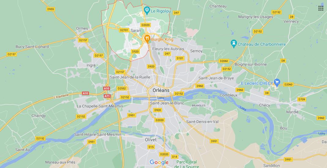 Où se situe Saran (Code postal 45770)