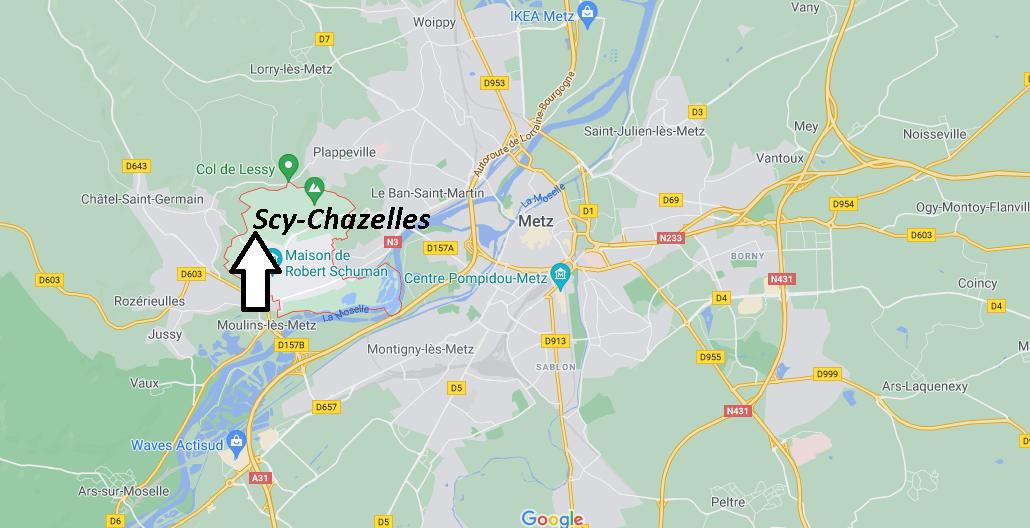 Où se situe Scy-Chazelles (Code postal 57160)
