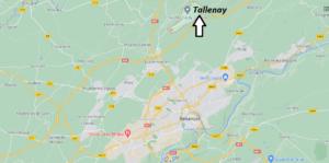 Où se situe Tallenay (Code postal 25870)