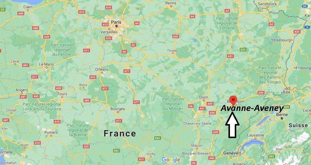 Où se trouve Avanne-Aveney