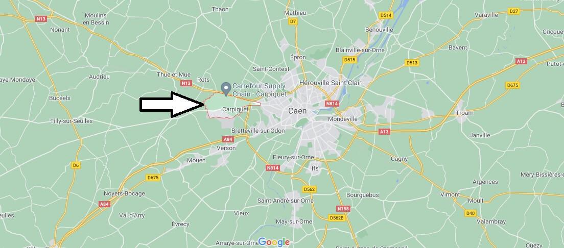 Où se trouve Carpiquet