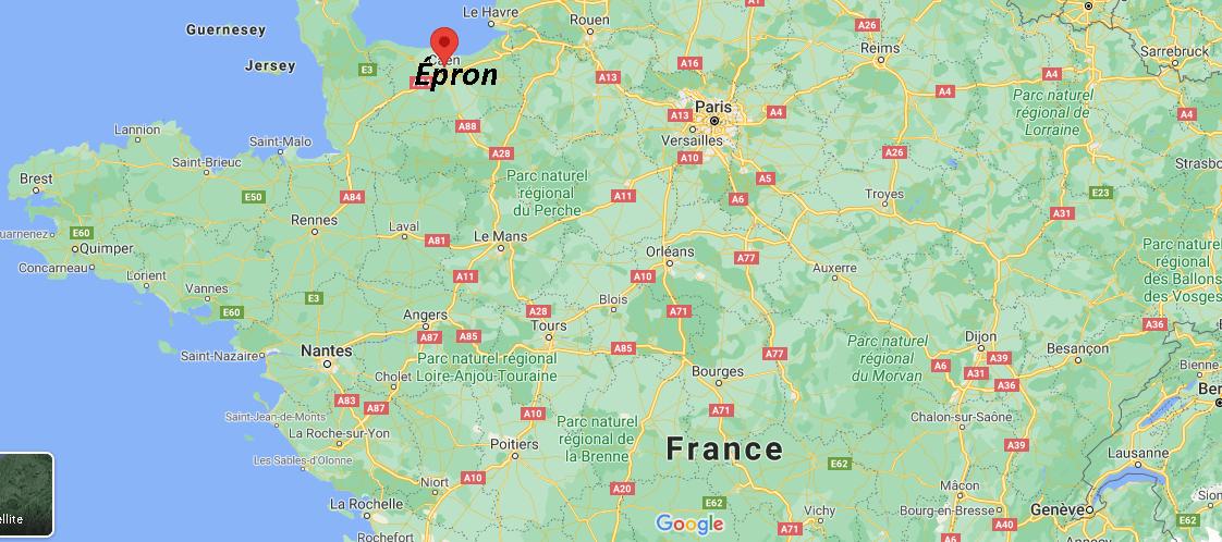 Où se trouve Épron