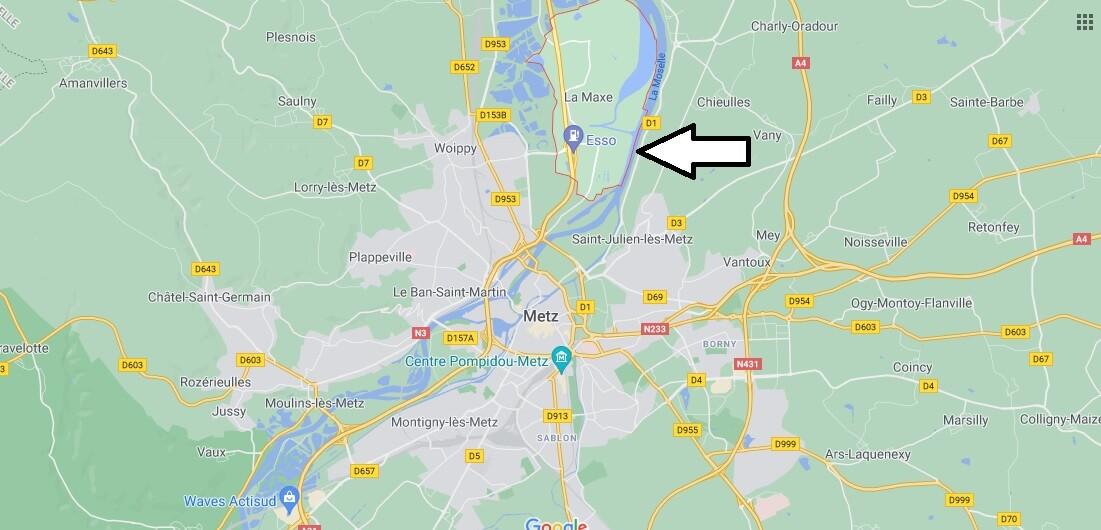 Où se trouve La Maxe