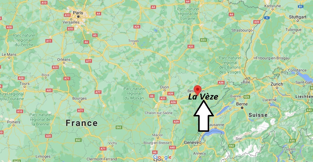 Où se trouve La Vèze
