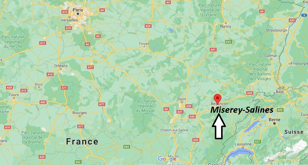 Où se trouve Miserey-Salines