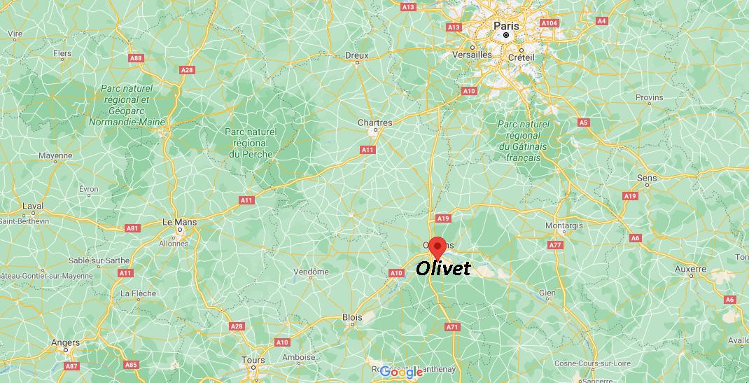 Où se trouve Olivet