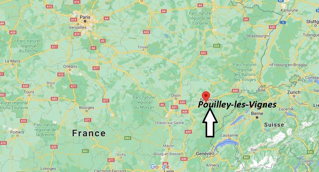 Où se trouve Pouilley-les-Vignes