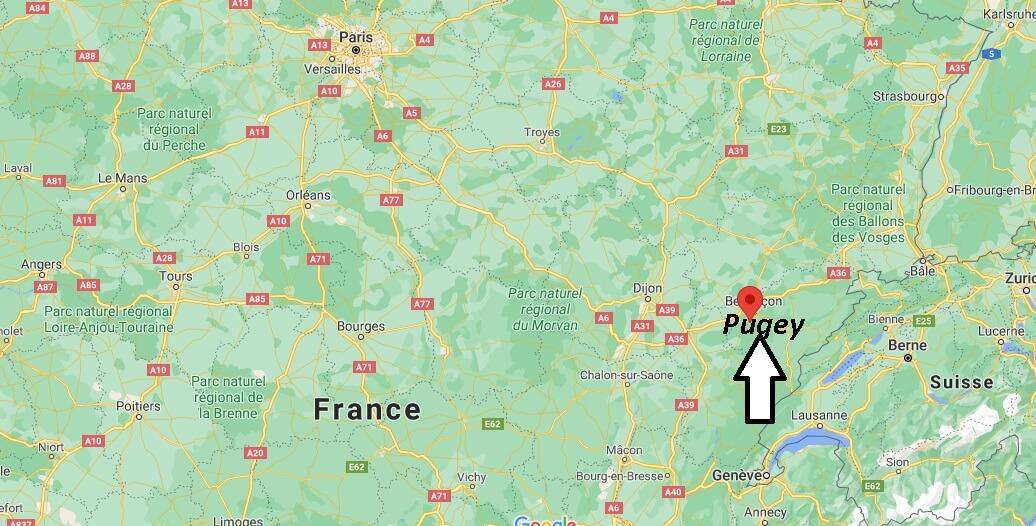 Où se trouve Pugey