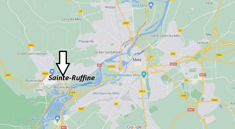 Où se trouve Sainte-Ruffine