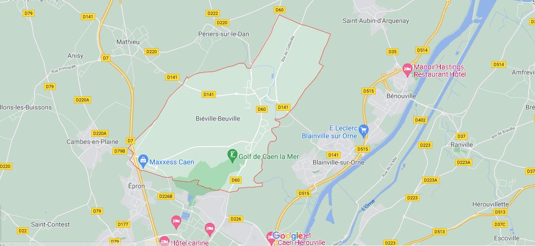 Dans quelle région se trouve Biéville-Beuville