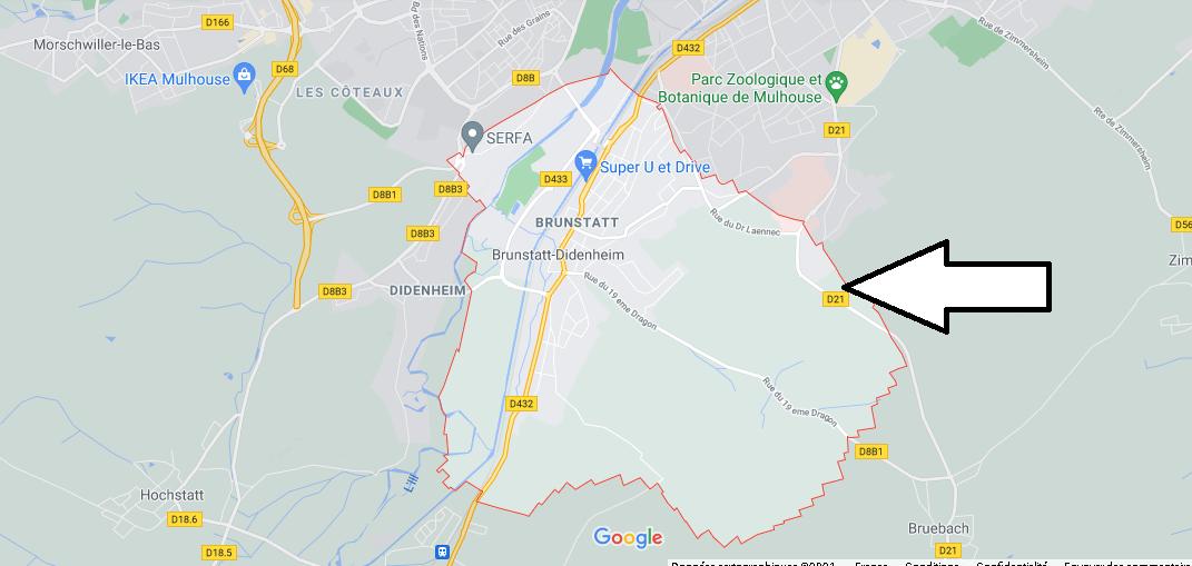 Dans quelle région se trouve Brunstatt