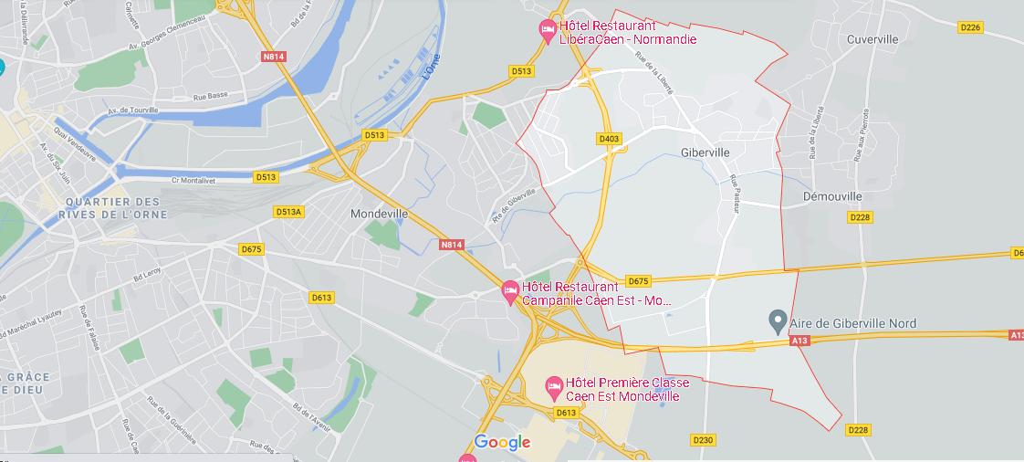 Dans quelle région se trouve Giberville