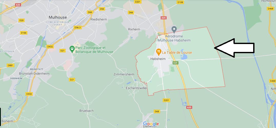 Dans quelle région se trouve Habsheim