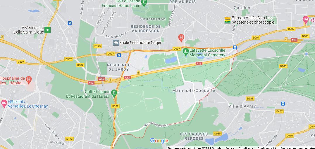 Dans quelle région se trouve Marnes-la-Coquette