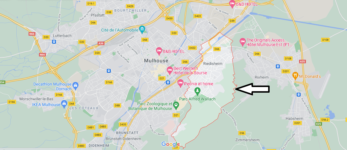 Dans quelle région se trouve Riedisheim