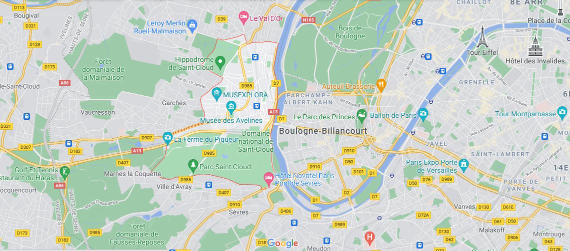 Dans quelle région se trouve Saint-Cloud