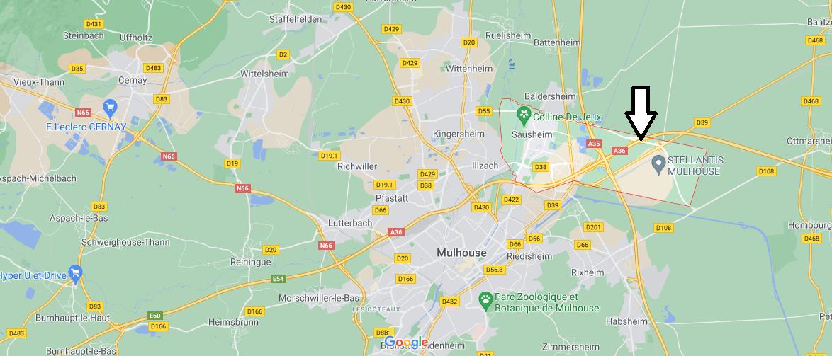 Dans quelle région se trouve Sausheim