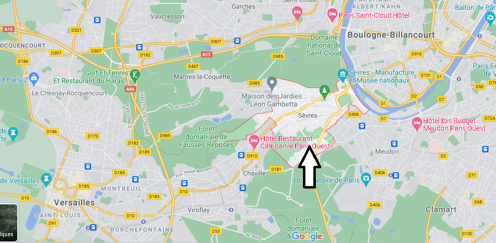 Dans quelle région se trouve Sèvres