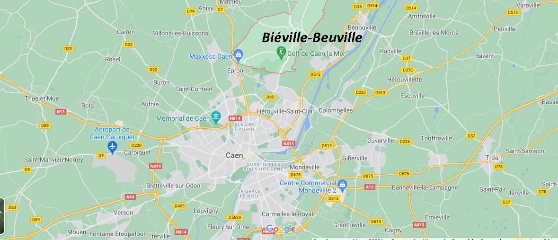 Où se situe Biéville-Beuville (Code postal 14112)