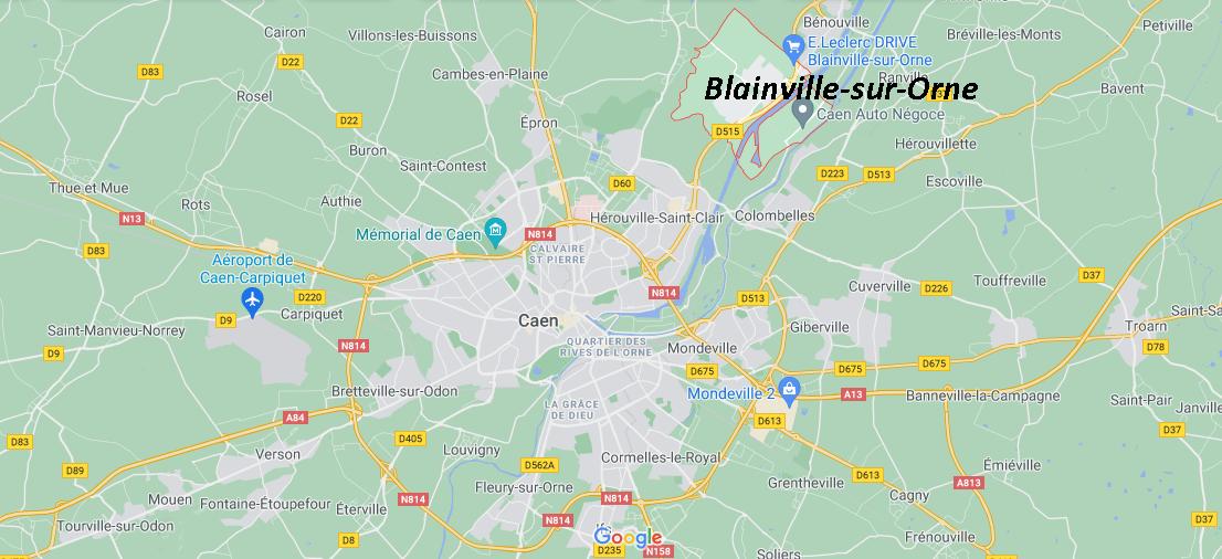Où se situe Blainville-sur-Orne (Code postal 14550)
