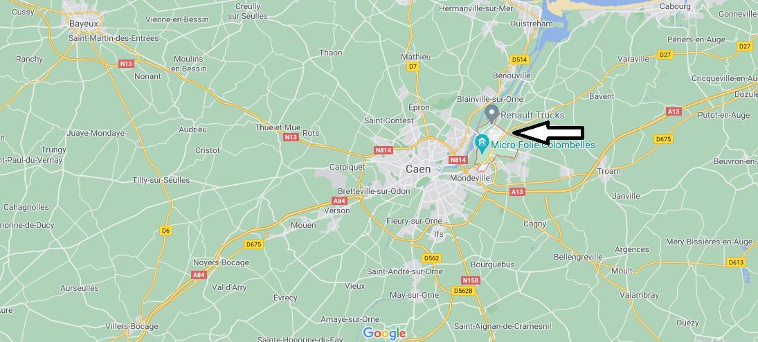 Où se situe Colombelles (Code postal 14460)