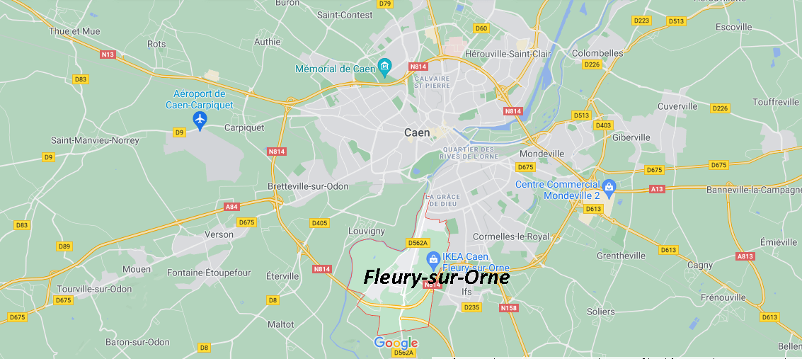 Où se situe Fleury-sur-Orne (Code postal 14123)