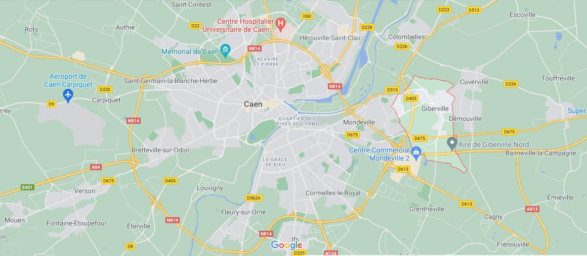 Où se situe Giberville (Code postal 14730)