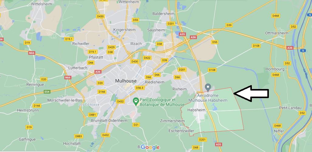 Où se situe Habsheim (Code postal 68440)