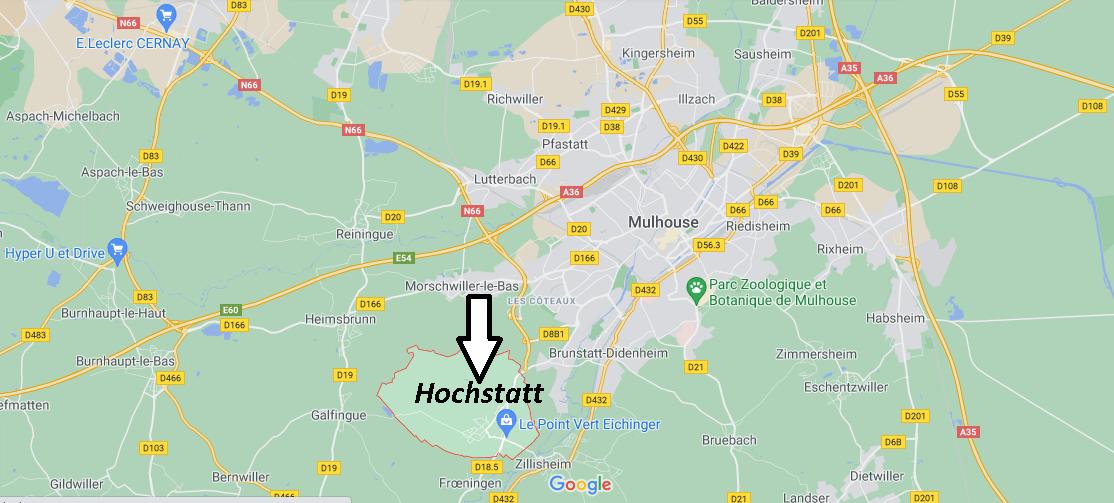 Où se situe Hochstatt (Code postal 68720)