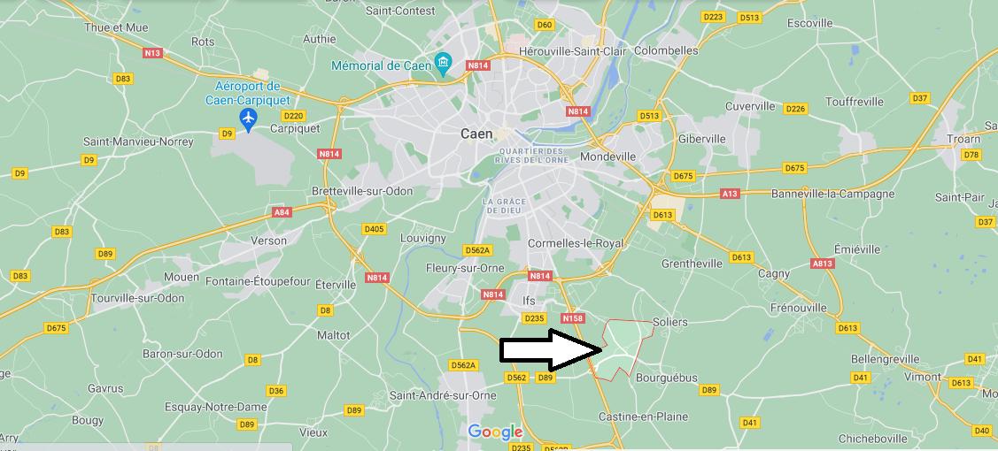 Où se situe Hubert-Folie (Code postal 14540)