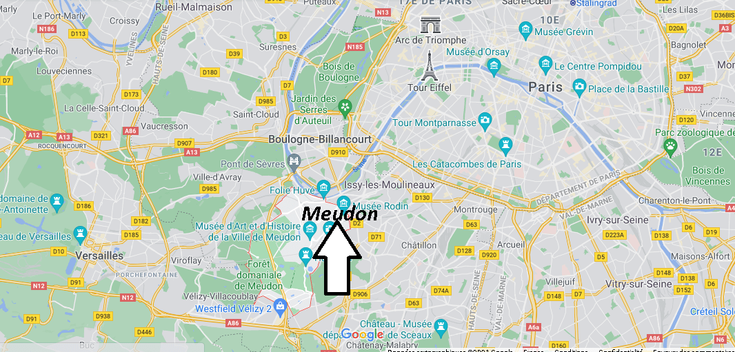 Où se situe Meudon (Code postal 92360)