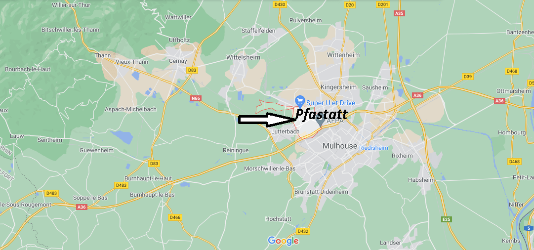 Où se situe Pfastatt (Code postal 68120)