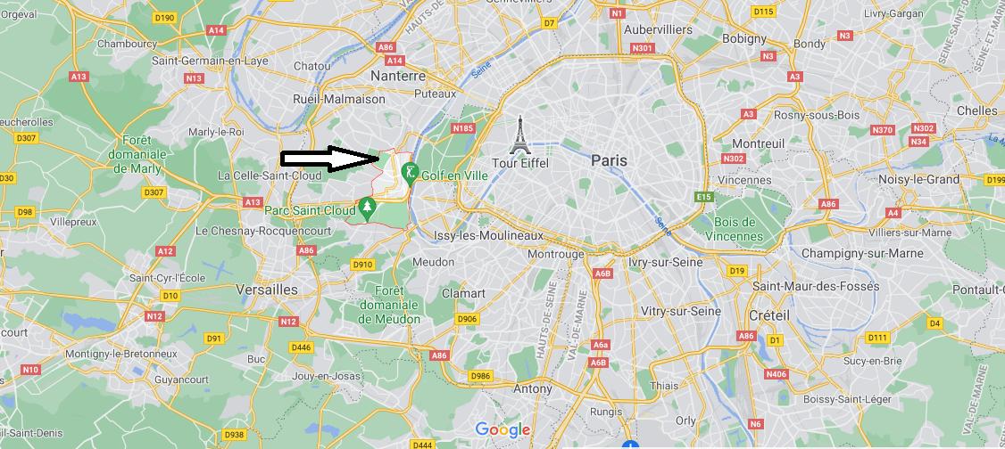 Où se situe Saint-Cloud (Code postal 92210)