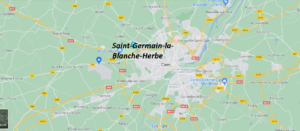 Où se situe Saint-Germain-la-Blanche-Herbe (Code postal 14280)
