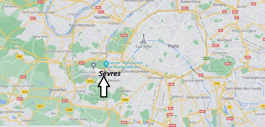 Où se situe Sèvres (Code postal 92310)