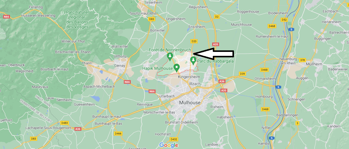 Où se situe Wittenheim (Code postal 68270)