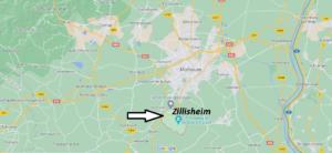 Où se situe Zillisheim (Code postal 68720)